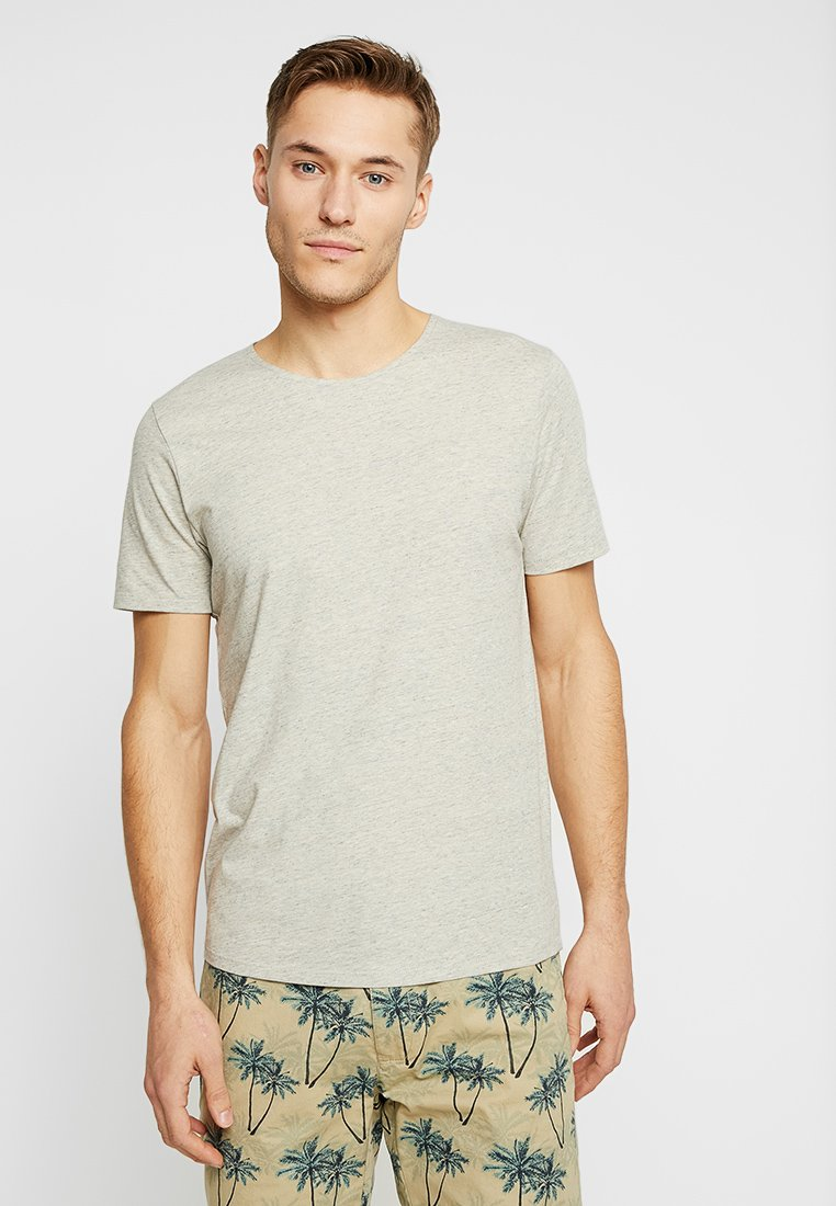 Selected Homme - T-shirt - bas - oyster gray/egret/light grey