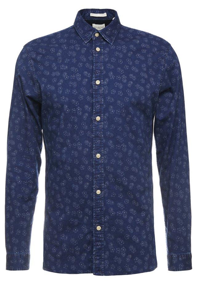 SLHSLIMSEAMUS - Shirt - dark blue