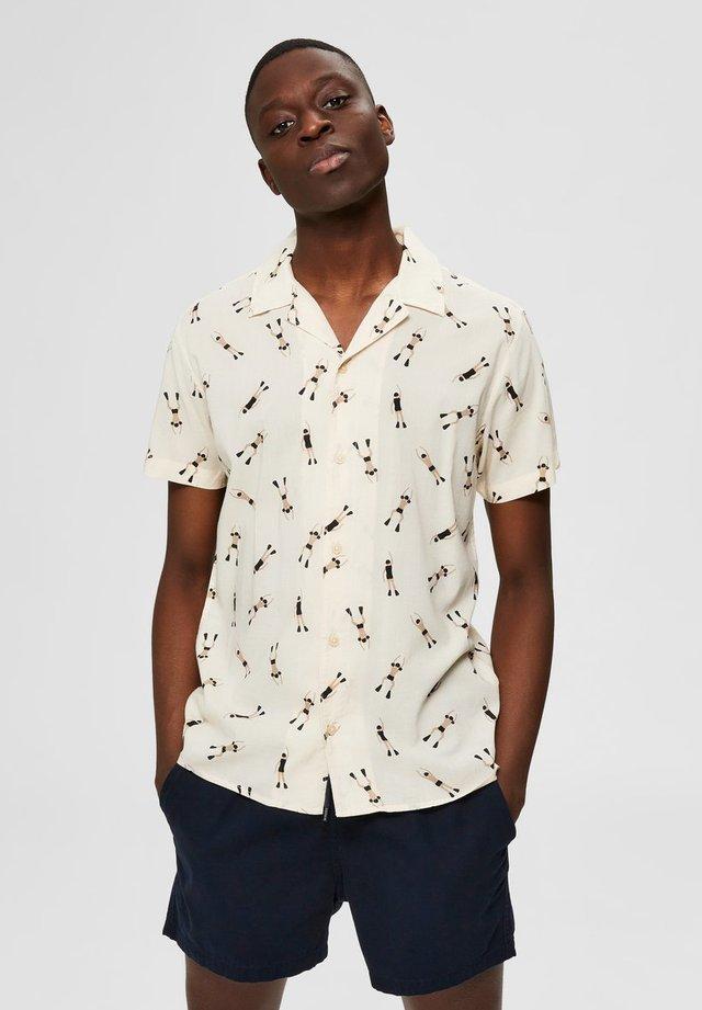 SLHREGMILDAS  - Camicia - egret