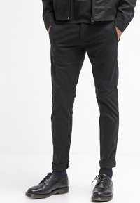 Selected Homme - SHHONE LUCA - Pantalones chinos - black - 3