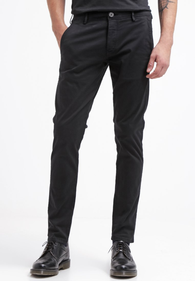 Selected Homme - SHHONE LUCA - Pantalones chinos - black