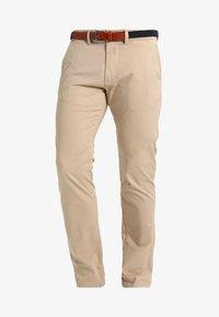 Selected Homme - SHHYARD SLIM FIT - Spodnie materiałowe - white pepper - 5