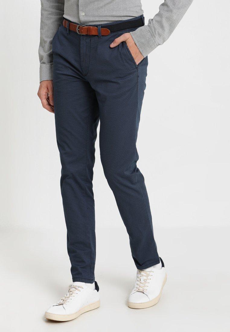 Selected Homme - SLH SLIM FIT YARD PANTS - Stoffhose - dark denim
