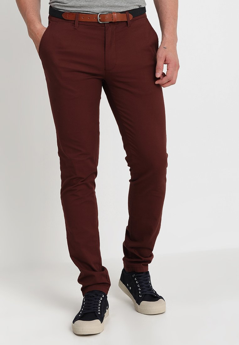 Selected Homme - SLH SLIM FIT YARD CHOCOLATE PANTS - Chino - bitter chocolate