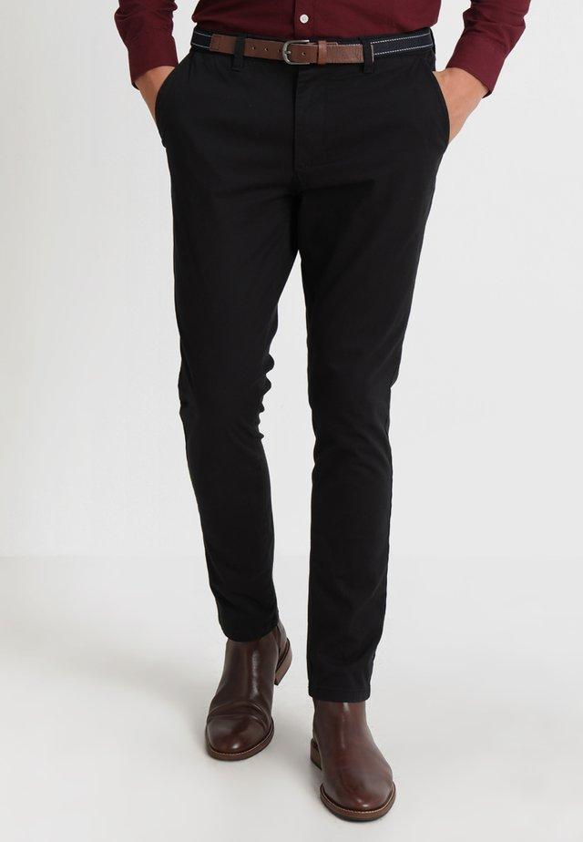 SLHSLIM JAMERSON PANTS - Chino kalhoty - black