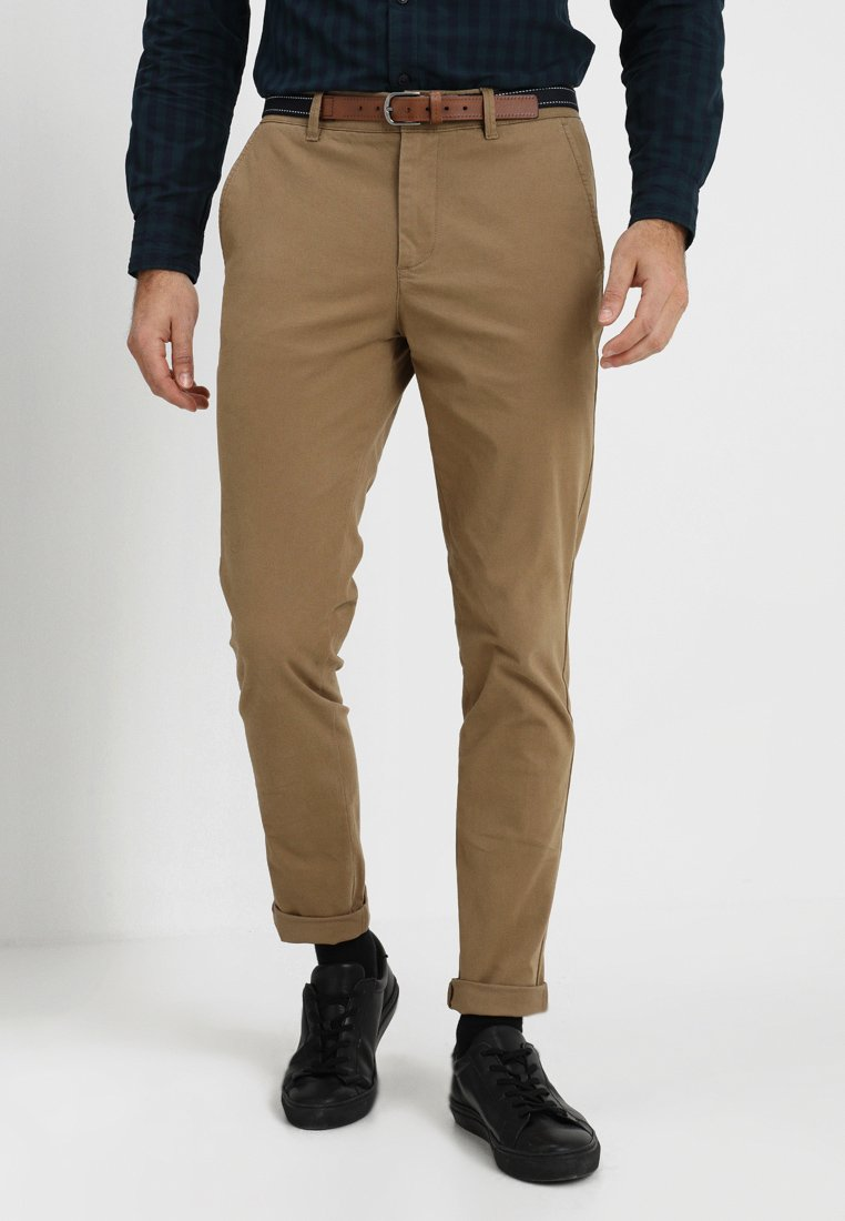Selected Homme - SLHSLIM JAMERSON PANTS - Chinot - dark camel