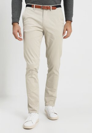 SLHSLIM-YARD PANTS - Chinot - silver lining