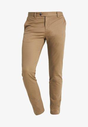 SLHSLIM CARLO PANTS - Spodnie materiałowe - sepia tint