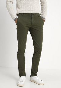Selected Homme - SLHSKINNY LUCA PANTS  - Chinot - deep depths - 0