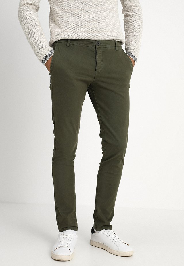 SLHSKINNY LUCA PANTS  - Chinos - deep depths