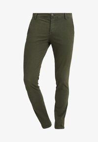 Selected Homme - SLHSKINNY LUCA PANTS  - Chinot - deep depths - 4