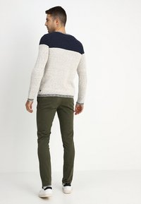 Selected Homme - SLHSKINNY LUCA PANTS  - Chinot - deep depths - 2