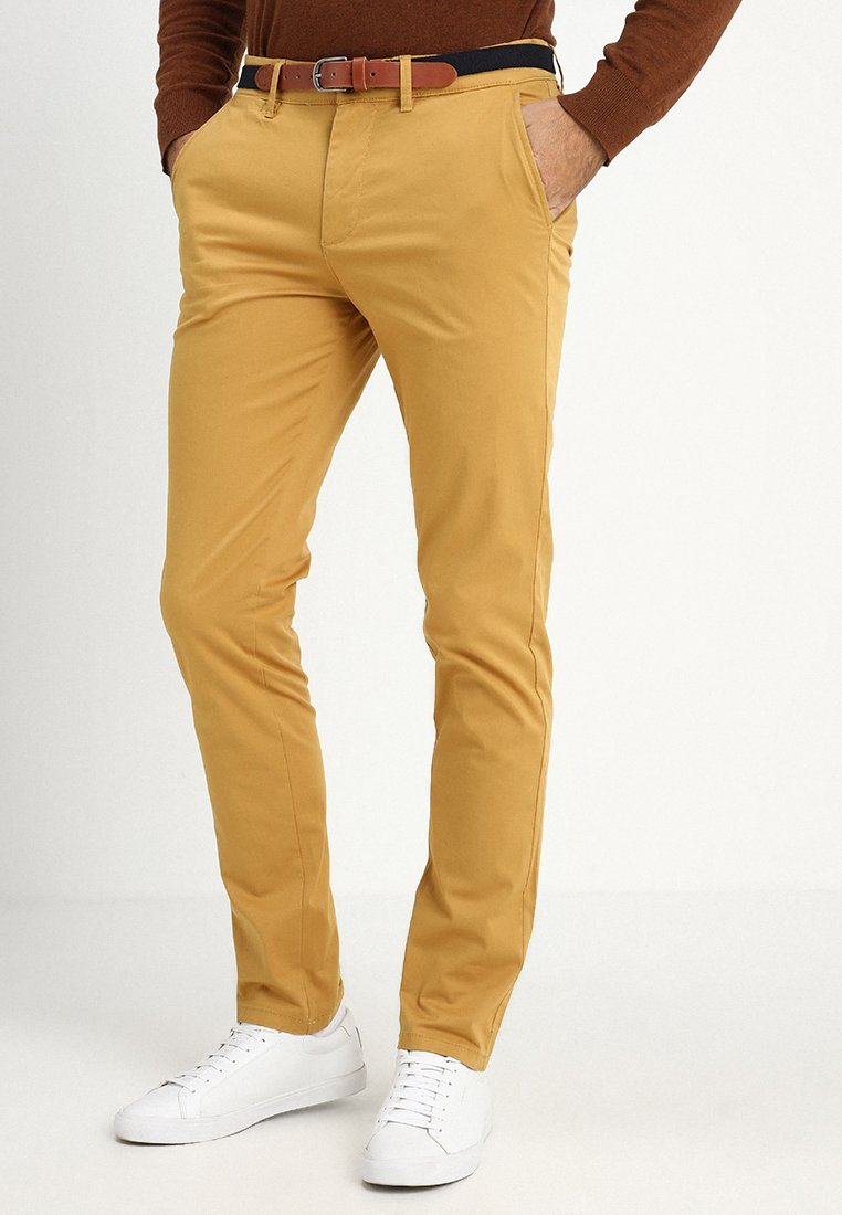 Selected Homme - SLHSLIM YARD PANTS - Trousers - honey mustard