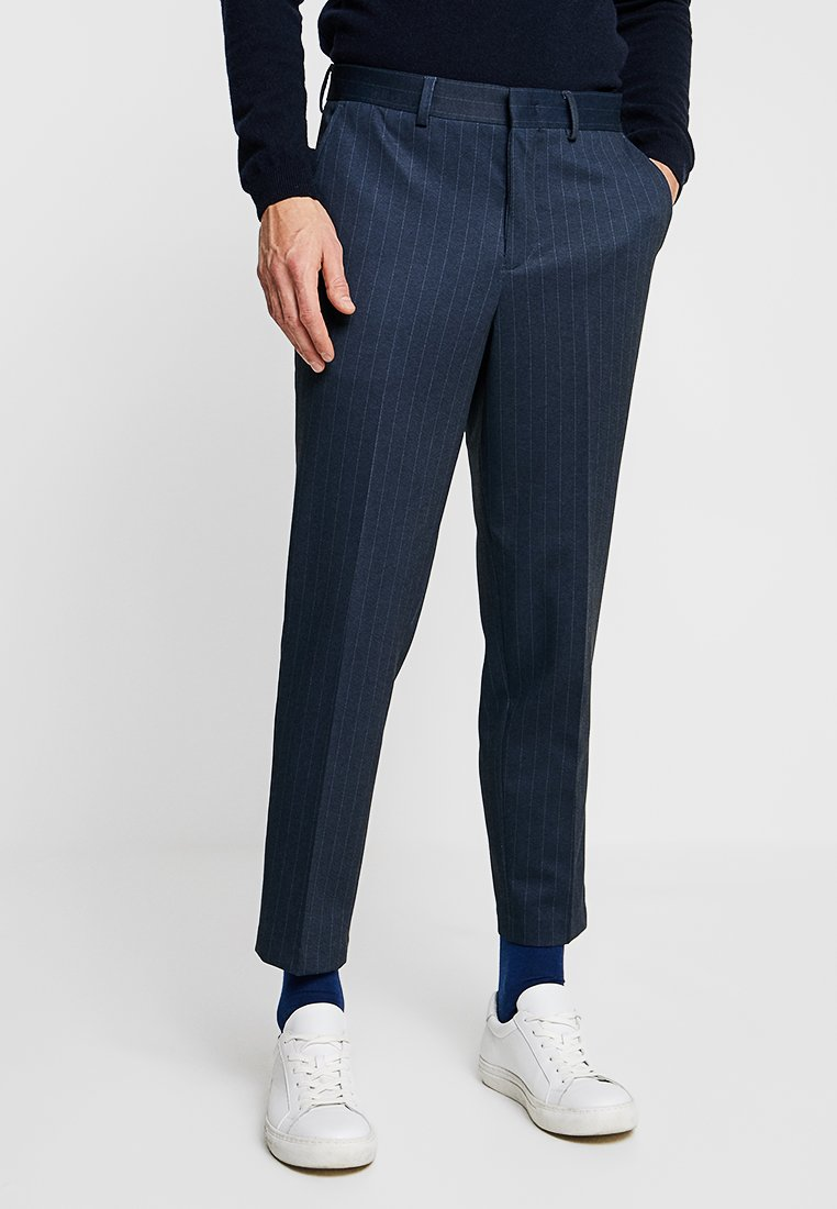 Selected Homme - SLHTAPERED CROP PANTS - Stoffhose - navy blazer