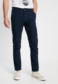 Selected Homme - SLHSTRAIGHT PARIS PANTS - Chinos - dark sapphire - 0