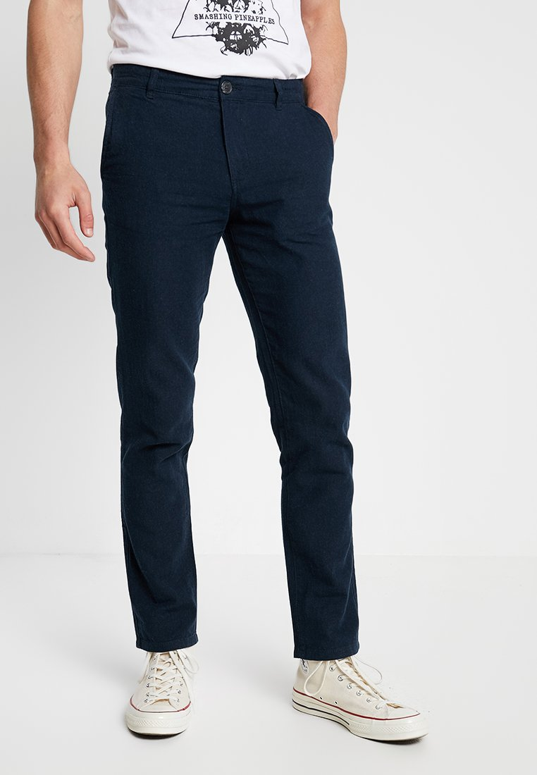 Selected Homme - SLHSTRAIGHT PARIS PANTS - Chinos - dark sapphire