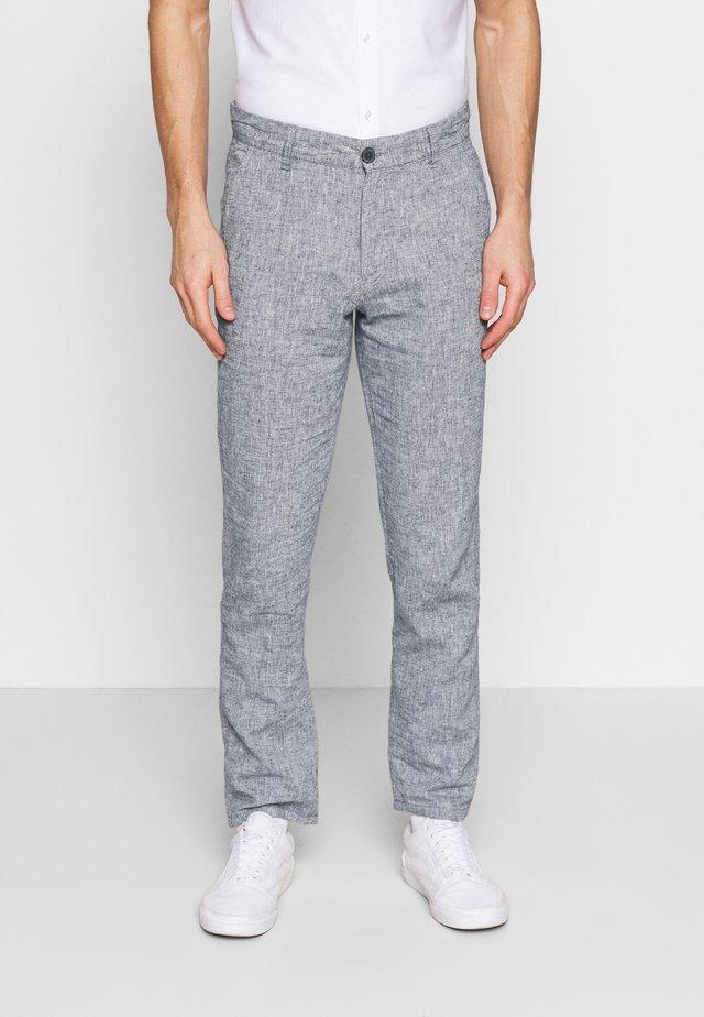 SLHSTRAIGHT PARIS PANTS - Spodnie materiałowe - blue depths