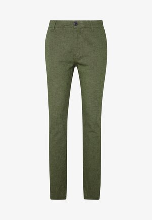 SLHSTRAIGHT PARIS PANTS - Trousers - forest night