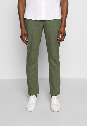 SLHSTRAIGHT PARIS PANTS - Kalhoty - forest night