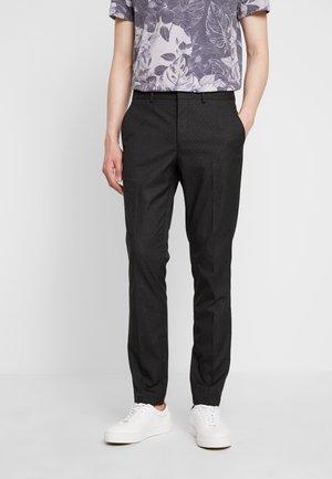 SLHSLIM MATHREP - Kalhoty - black