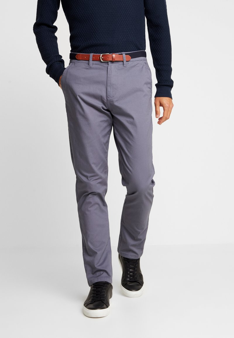 Selected Homme - SLHSLIM YARD PANTS - Chino kalhoty - grisaille