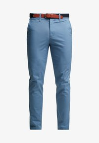 Selected Homme - SLHSLIM YARD PANTS - Pantalones chinos - captains blue - 4
