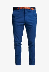Selected Homme - SLHSLIM-YARD PANTS W - Chino kalhoty - estate blue - 4