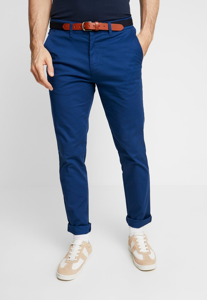 Selected Homme - SLHSLIM-YARD PANTS W - Chino kalhoty - estate blue