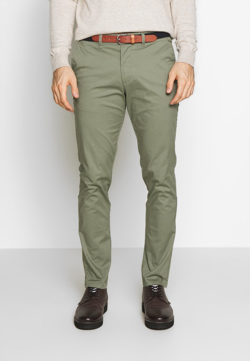 Selected Homme - SLHSLIM YARD PANTS - Chinot - sea spray