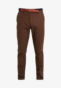 Selected Homme - SLHSLIM YARD PANTS - Chino kalhoty - demitasse - 3
