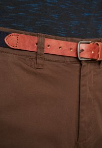 Selected Homme - SLHSLIM YARD PANTS - Chino kalhoty - demitasse - 4