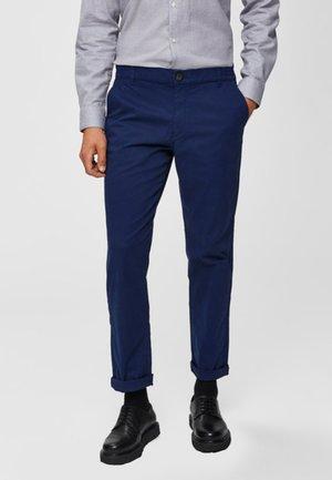 Spodnie materiałowe - medieval blue