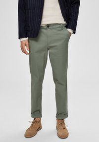 Selected Homme - Tygbyxor - green - 0
