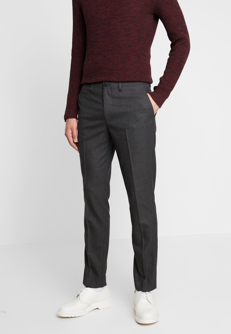 Selected Homme - SLHSLIM KENT PANTS - Trousers - dark grey