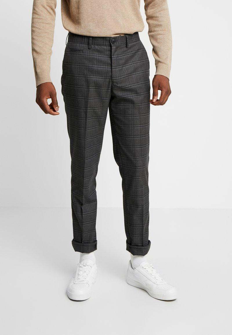 Selected Homme - SLHSLIM KENT PANTS - Trousers - grey