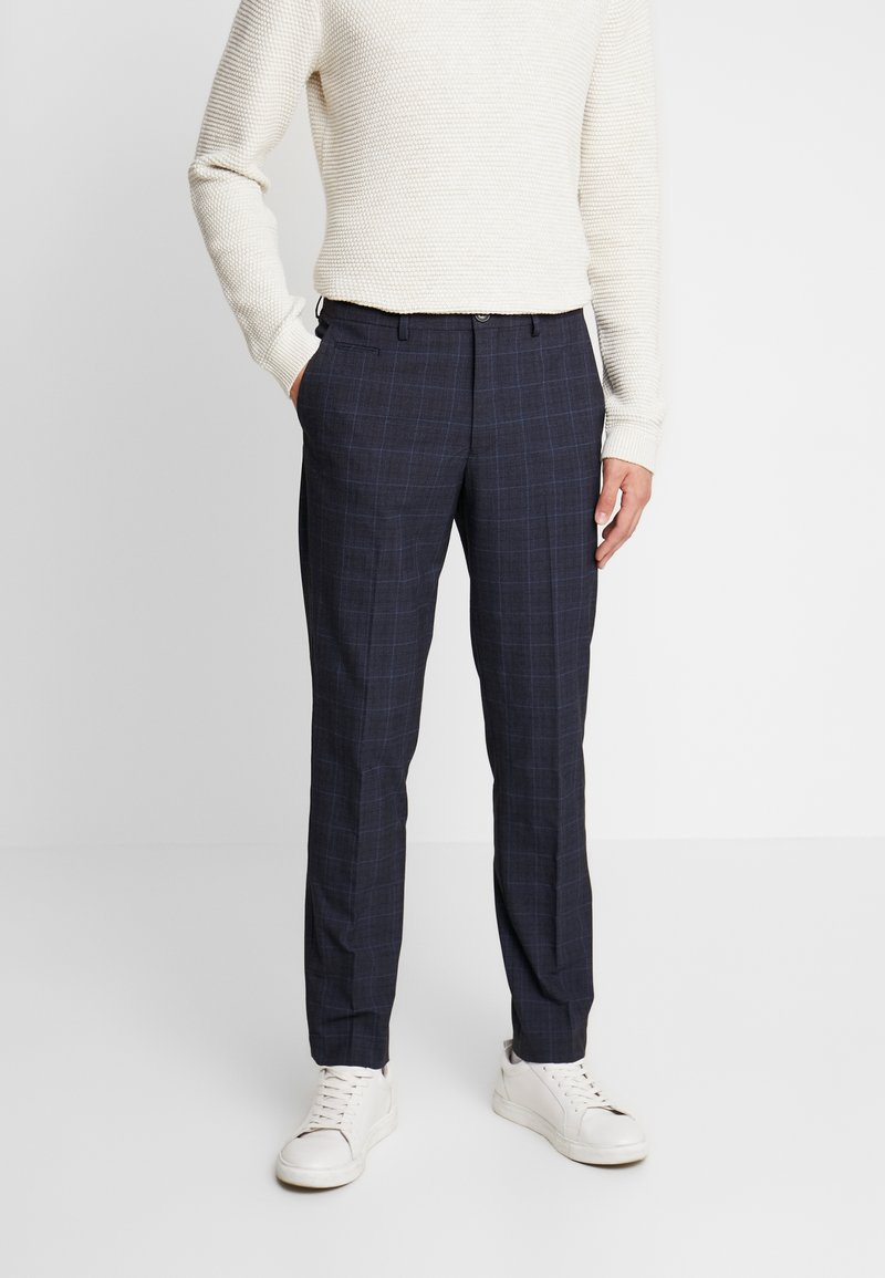 Selected Homme - SLHSLIM KENT PANTS - Stoffhose - dark blue