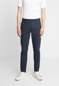 Selected Homme - SLHSLIM PARKER MIX PANTS  - Kalhoty - navy blazer - 0