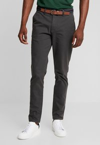 Selected Homme - SLHSLIM JAMERSON - Chinos - forged iron - 0