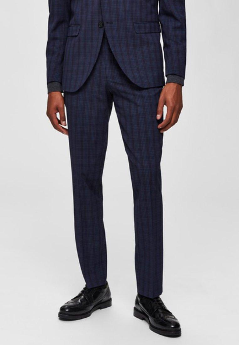 Selected Homme - Pantalon de costume - navy blue