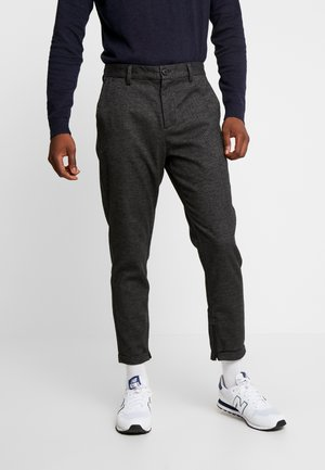 SLHSPECIA ALEX MIX ZIP PANTS - Spodnie materiałowe - grey