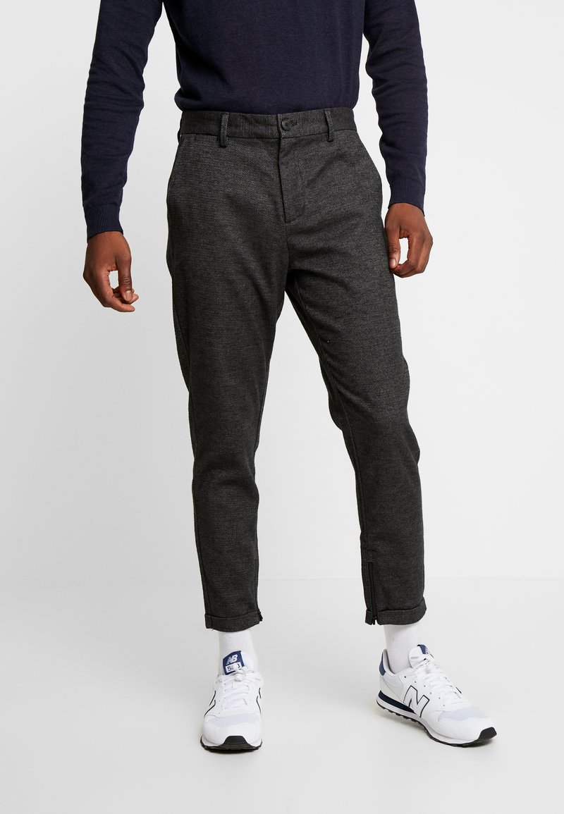 Selected Homme - SLHSPECIA ALEX MIX ZIP PANTS - Trousers - grey