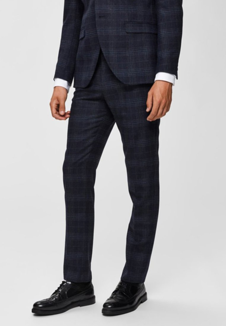Selected Homme - Suit trousers - navy blue
