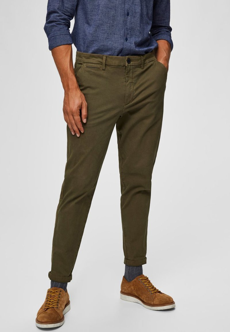 Selected Homme - Chinos - dark green