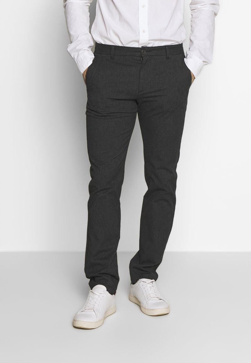 Selected Homme - SLHSLIM ARVAL PANTS - Trousers - grey