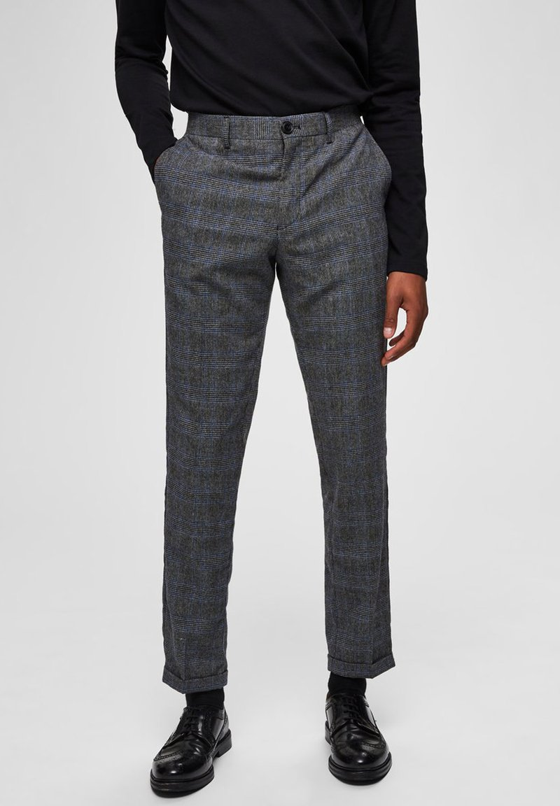 Selected Homme - SLIM FIT - Trousers - gray