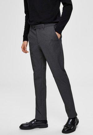 SLHSLIM-CARLO FLEX PANTS - Kalhoty - grey melange