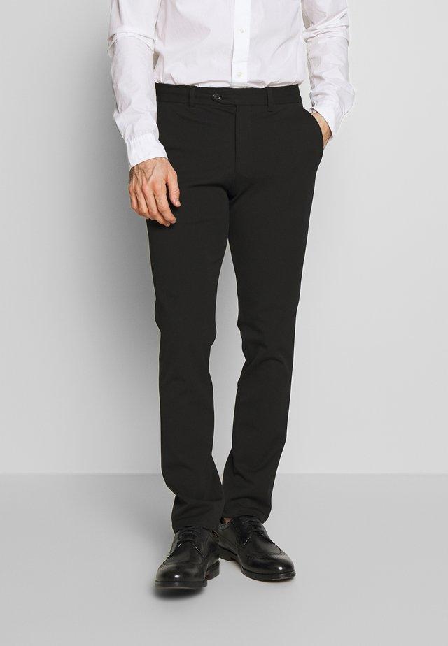 SLHSLIM-CARLO FLEX PANTS - Trousers - black
