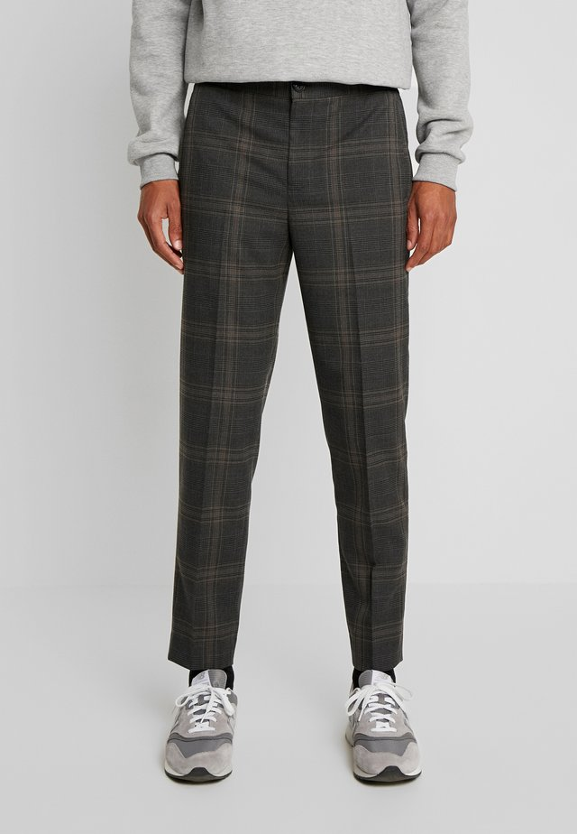 SLHSLIMTAPERED CODE CHECK TROUSER - Broek - grey/multicolor