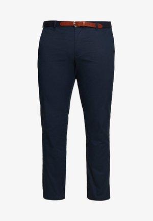 SLHSLIM YARD PANTS - Chino kalhoty - dark sapphire