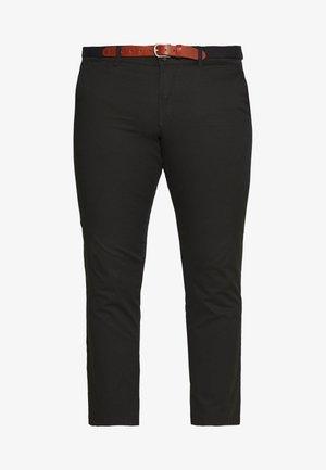 SLHSLIM YARD PANTS - Chino - black